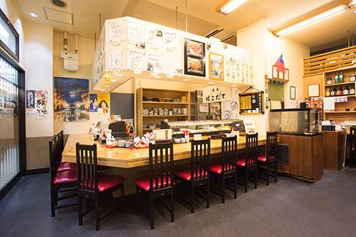 函館市若松町の函館朝市どんぶり横丁内の鮨処はこだて|店舗紹介
